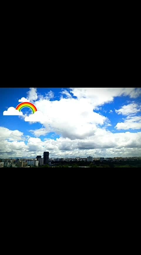 #sky #skylovers #skyblue #clouds #colurful #nature #naturephotography #mobilephotography #multicolor #rainyweather #rain #rainydayz