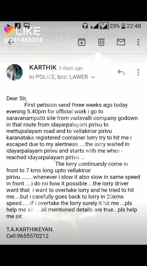 Accident Murder Plans against me T.A.Karthikeyan True story...from march 2019 to still now....