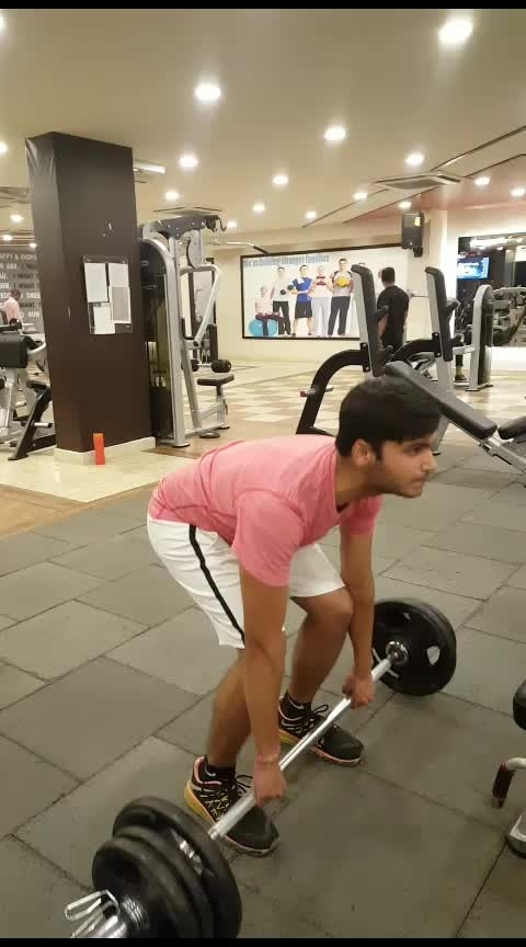 WHAT WOULD LIFE BE WITHOUT DEADLIFTS AND SQUATS,  My trainee mr pragun performing conventional deadlifts,  What does conventional deadlifts work?  A: The deadlift is a strength exercise that works several muscle groups, including your back, glutes and legs. It is one of only a handful of exercises that target muscles  in the upper and lower body. Performing a deadlift with good form is imperative to reduce the risk of injury, particularly to the low back. . . . . . . . . #deadlift #strength #strengthtraining #weights #weightlifting #fitnessgoals #gains #heavylifting #technique #motivation #leanmode #leanbody #fitnessmodel #gymnastics #crossfit #gyms #personaltrainer #muramali #healthylife #focus #barbell #lift #fitfam #transformation #gymworld