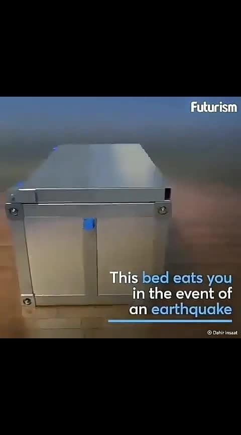 Earthquake bed #besafealert #newinventions #futuristic #save-our-earth #roop-love #ropososupport