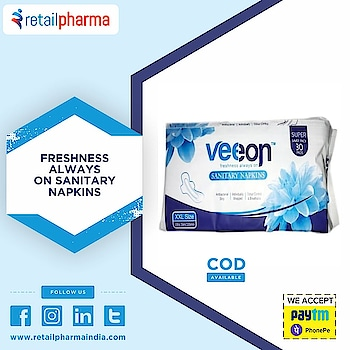 Veeon Family Pack Sanitary Pad Ultra Slim XXL-30 Pads  Buy Now-https://bit.ly/2GqpnqV  Veeon comes up with a product that not only meets their sanitary needs, but goes beyond with additional benefits including the additional anion enhancements.  #VeeonSanitaryNapkins #SanitaryPads #WomenCare #MenstrualCycle #BestSanitaryPads #WomenHygiene #SanitaryNapkins