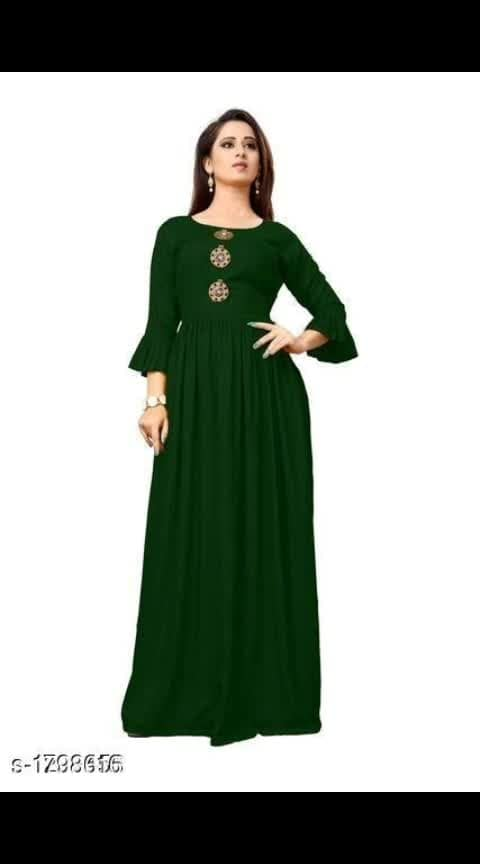 COD   Mahira Trendy Rayon Women's Gown Vol 3 #Re1shipping  Fabric: Rayon Sleeves: 3/4 Sleeves Are Included Size: M- 38 in, L - 40 in, XL - 42 in, 2XL - 44 in Length: Up To 50 in Type: Stitched Description: It Has 1 Piece Of Women's Gown Work: Solid Dispatch: 2 - 3 Days  Cash on delivery.🛣 Return/refund available Please ask queries on Whatsap no.8692809309