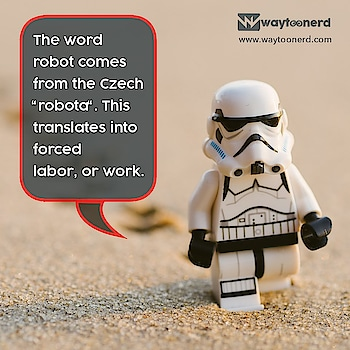"The Word #robot comes from the #Czech ""robota"".This translates into forced #labor, or #work.  www.waytoonerd.com  #robotics #art #technology #engineering #scifi #robotic #ai #robotica #future #instatech #technews #dailyfact #didyouknowfacts #quotes #funfacts #true #interestingfacts #CableRobots #fintech #insurtech #ArtificialIntelligence #MachineLearning #science #ThursdayThoughts #ThursdayMotivation"