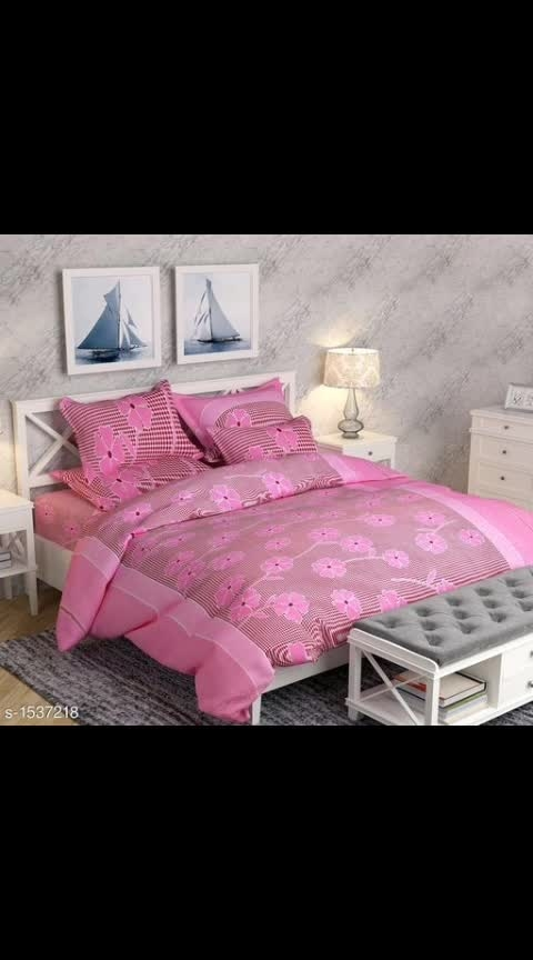 Multicolored Fashionable Poly Cotton 3D Printed Double Bedsheets Vol 1  Fabric: Bedsheet - Poly Cotton, Pillow Covers - Poly Cotton Dimension: ( L X W ) - Bedsheet - 90 in X 90 in, Pillow Cover - 27 in X 17 in Description: It Has 1 Piece Of Double Bedsheet & 2 Pieces Of Pillow Covers  Work: 3D Printed Thread Count: 140 Dispatch: 2 – 3 Days