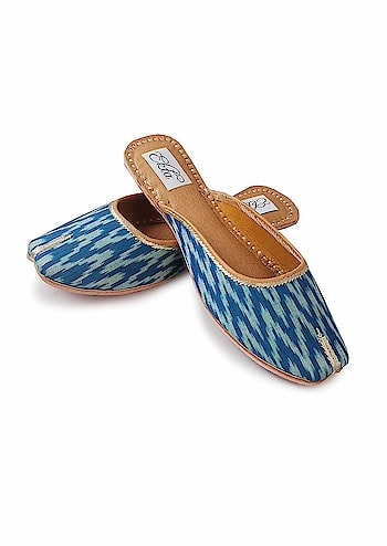 EKTA Women Handcrafted ikat Ethnic Backless Designer slipon Juttis And Mojaris  Rs. 1320/- Click here for buy: https://amzn.to/2LEF7uJ   To see more similar products click on : https://amzn.to/2OA6kB5