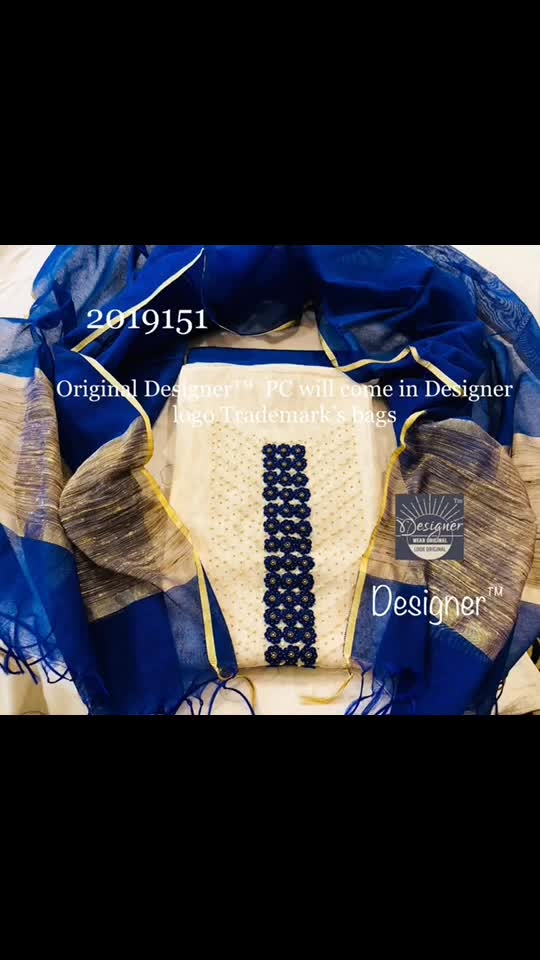 *Top- off-white color* *Handwork suits* Rs  850  Top*Banaras noil* top with fine handwork work/ pearls/ embroidery/real mirrors Bottom cotton Dupatta Banaras noil