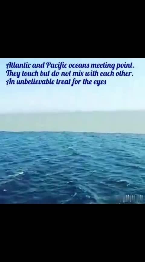 Atlantic ocean and Pacific ocean