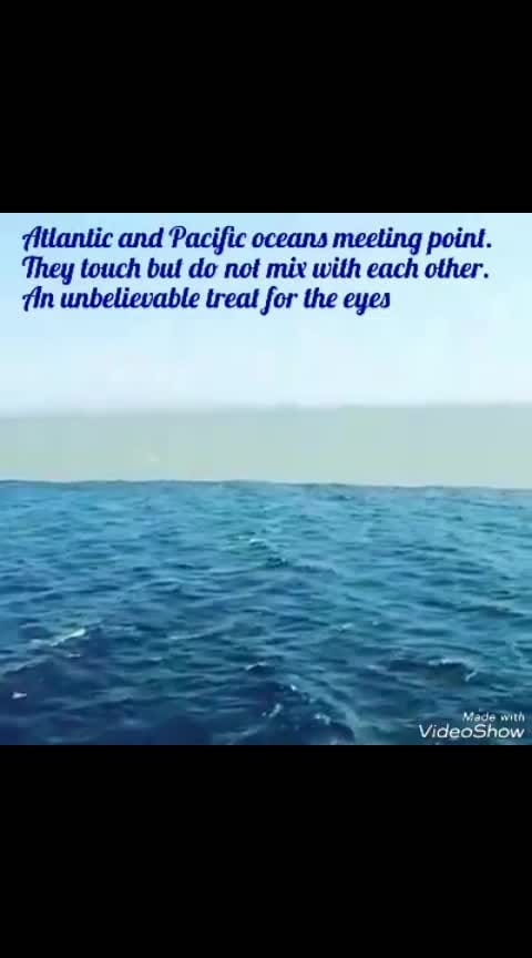 Atlantic and pacific oceans