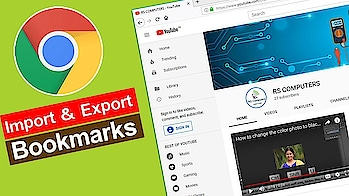 Google Chrome Bookmarks Import and Export in Telugu
