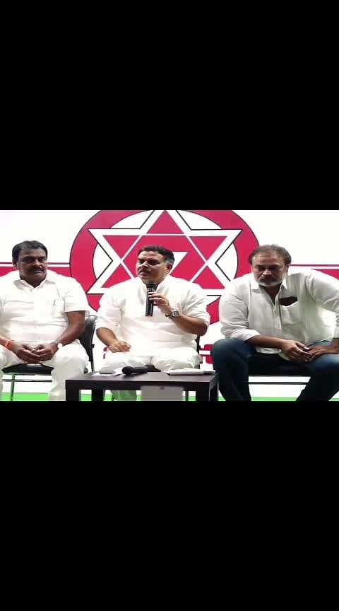 #NagaBabu & #NadendlaManohar at #Janasena party press meet