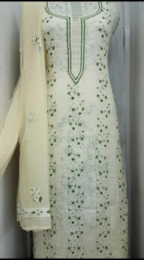 🌸PASTEL LOVERS🌸  Specifications ____________ Title: Unstitched Dress Material Fabric : georgette Kurta 3 mt approx Bottom 2.5 mt approx Dupatta 2.5 meters approx  Order now 8707825310