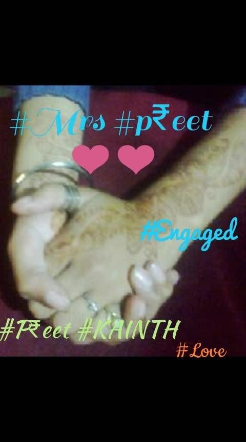 #engaged #Mrs #p₹eet #kainth👌👌👌👌