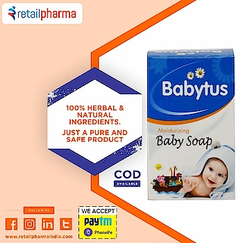 Afflatus Babytus Soap 75 Gm  Buy Now-https://bit.ly/2OqyyOm  Babytus Soap is the moisturizing baby soap for baby's skin. It is really gentle and the skin and doesn't make it dry.   This soap is really mild on skin and is also free from harsh chemicals.  #BabytusSoap #Soap #MoisturizingSoap #BabySoap #BabySkin #BabyCare #NaturalProducts #onlineBabyProducts