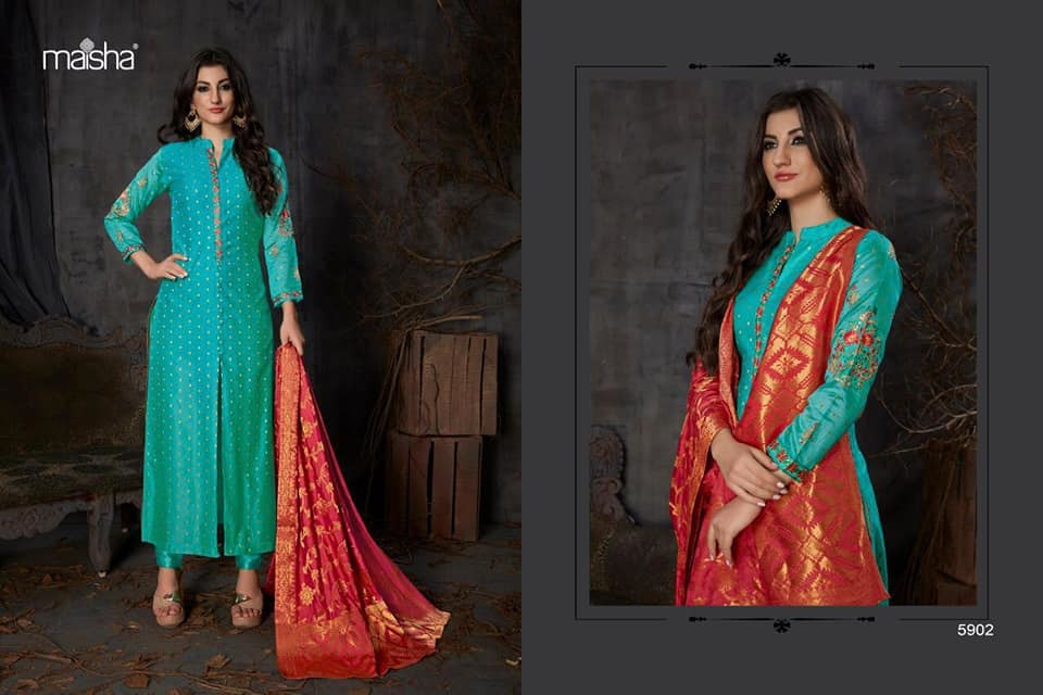 MAHIKAA COLLECTIONS LAUNCHES online selling of WOMEN FABRICS. please click on picture or our online link below or BUY DIRECTLY FROM US USING PAYTM / BANK TRANSFER CONNECT WITH US AT info@mahikaa.in or whatsapp : 7984456745  MASKEEN SILK BY MAISHA  BANARASI BUTTA EMBROIDERED SUIT WITH BANARASI JACQUARD DUPATTA RATE : 2195/- +$ #business #innovation sales #health #fintech #amazon #mondaymotivation #wellness #news #engineering #banking #newyork #smartcities #gifts #credit #fridayfeeling #r #r #emotionalintelligence #protection #cash #engineers #engineers #publishing #electronics #reviews #writers #howto #contest #festive #publichealth #careerdevelopment #pay #festivals #mystery
