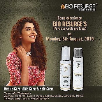 Bio Resurge is premium Ayurvedic health care, skincare, and hair care company.  One feels the positive difference from day one! Come and meet us at ABL Workspaces at their Okhla center to understand why Ayurveda is the best-proven way to a happy and disease-free life.  To Know More: https://bioresurge.in/   #Sale #beauty #Luxury #Delhi #Shopping #DelhiEvents #freegifts #healthcare #love #best #healthy #naturalskincare #free #summer #wrinkles #CleanSkin #PureSkin #FlawlessSkin #instadaily #instagood #ablworkspaces