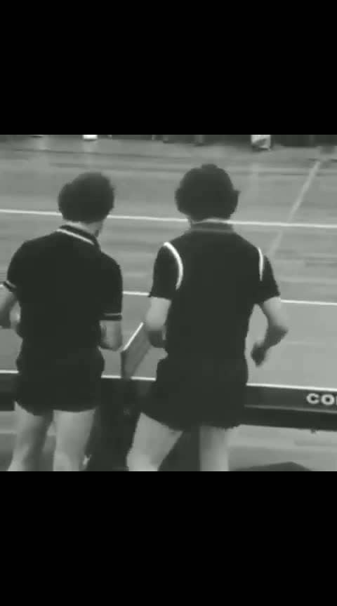 Table tennis match in the Netherlands, 1979 #history