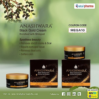 Bio Resurge Anashwara Black Gold Cream For Stretch Marks, Scars Removal And Pigmentation   Buy Now-https://bit.ly/2MC8Bcj  Shilajit repairs damaged tissues and offer a youthful and radiant glow by removing the dead cells and making the skin soft.  #BioResurge #BlackGoldCream #ScarsRemovalCream #StretchMarks #AnashwaraCream #SkinGlow #SkinTightening #StretchMarksRemovingCream