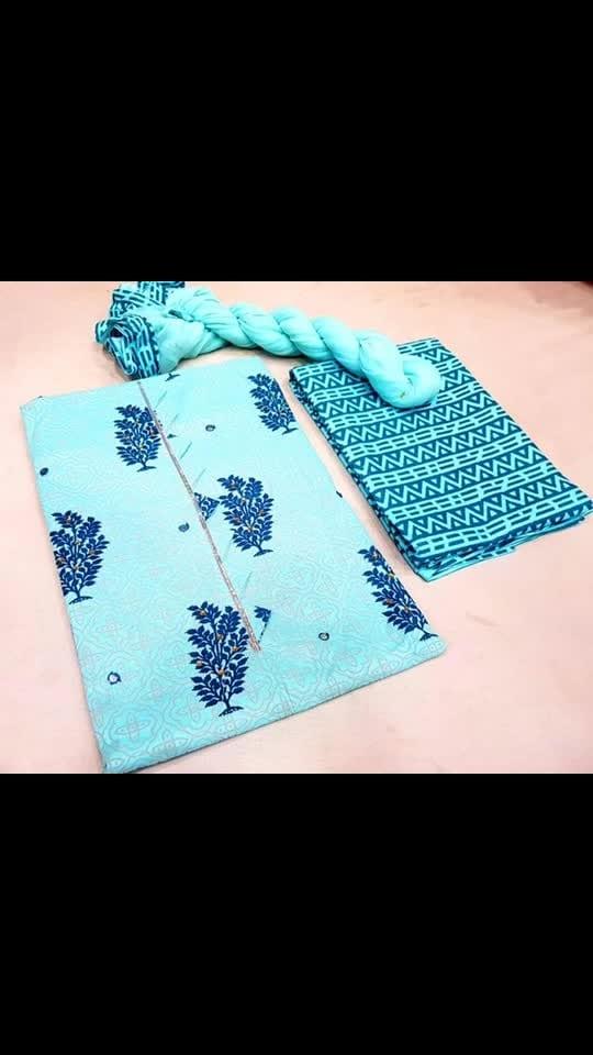 Cotton top  Chiffon dupatta   Cotton bottom   Rs:899:-