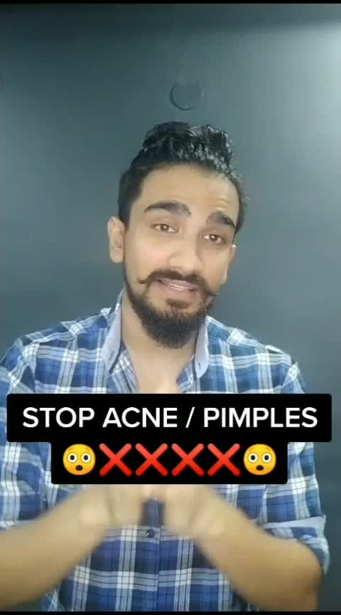 How to Stop Acne or Pimples #indianmensguide  #foryou #soroposo #acne #skincare  @roposotutorial @roposocontests