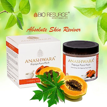 Papaya Face Pack contains Vitamin A & Alpha hydroxy acid, which removes dead skin cells making skin young. So, forget harmful cosmetics and use Papaya Face Pack for a younger-looking face.  Available At : www.bioresurge.in www.amazon.in www.flipkart.com https://www.1mg.com | Nykaa, Paytm, eBay, Qtrove, Healthmug, LimeRoad, Shopclues.   #PapayaFacePack #bioresurge #chemicalfreeskincare #pure #naturalsmile #ayurveda #organic #lifestyle #love #smile #beauty #healthy #naturalskincare #free #summer #PureSkin #FlawlessSkin #instadaily #instagood #antiwrinkle #AdvancedAyurveda