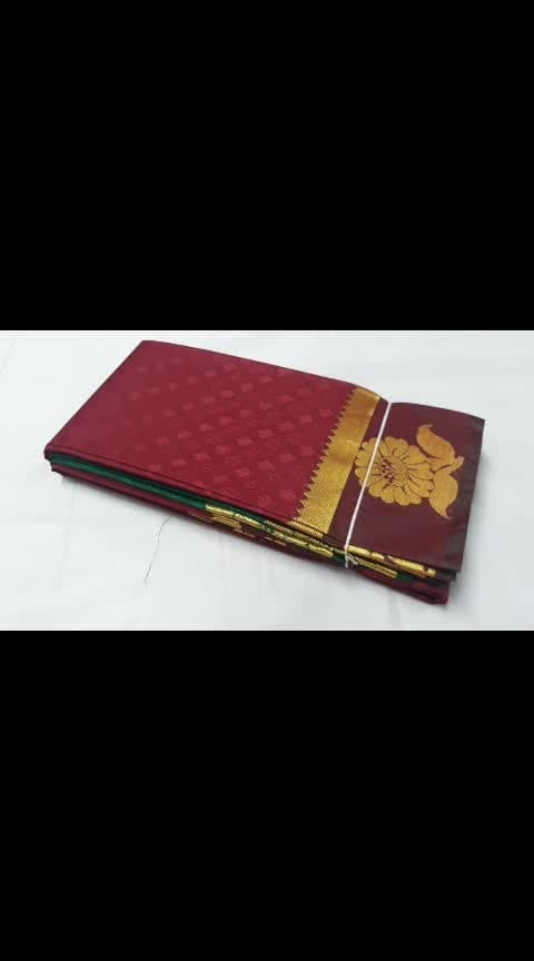 *PLAIN EMBOSSED PATTU SAREE( SPECIAL FOLDING)*    ART  SILK SAREE  PLAIN EMBOSSED PATTU SAREE   RICH PALLU WORK   CONTRASTS PALLU AND BLOUSE WORK   AVAILABLE COLOURS 30  AVAILABLE DESIGN 17   *PRICE RS.1399+$*