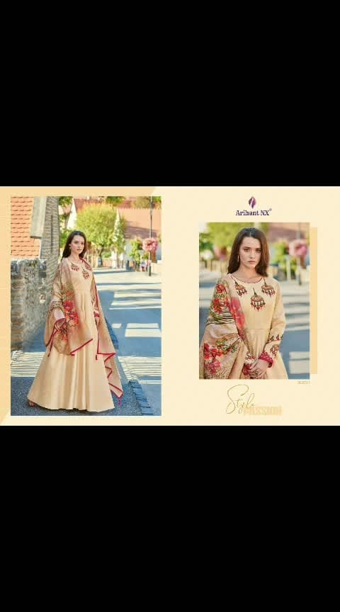 Khusbu collection whatsapp  9909244966 7046917677 *Arihant NX* Presents   Top Full Stich Catlog Series  Catalogue Name:- *RUBINAA (8 Pcs)* *(D.NO.30001To 30008)* *Fabrics Details:-* Top:=  Zorba Silk  DUPPTA:=Pure Maslin With Digital Print  Inner:=Malai Crap  Bottom-Semi Cotton  *Size- L-40 XL-42 XXL-44* Des.Total:-8⃣Pcs   Rate-1499  Disptching On:=This Week