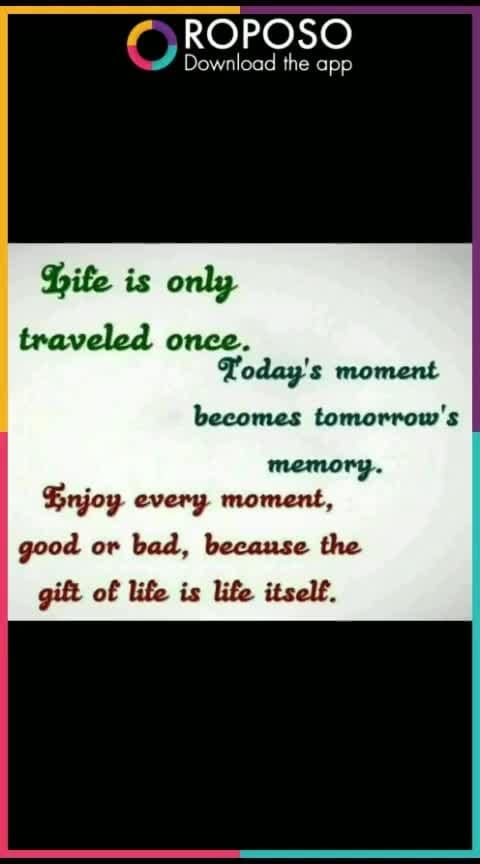 Today's moment becomes tomorrow's moment