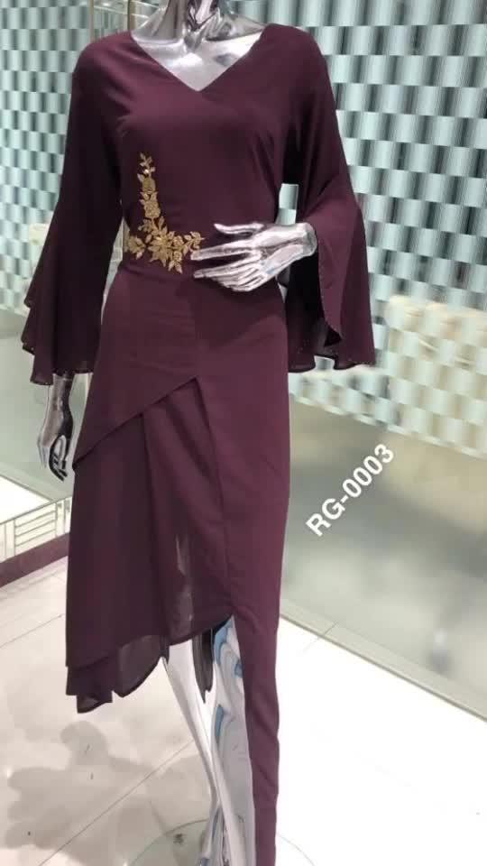 *Rate:2650/-  RG 0003 Fabric : Georgette Specification : Evening wear/Kitty wear one piece dress   Size : XL / 42