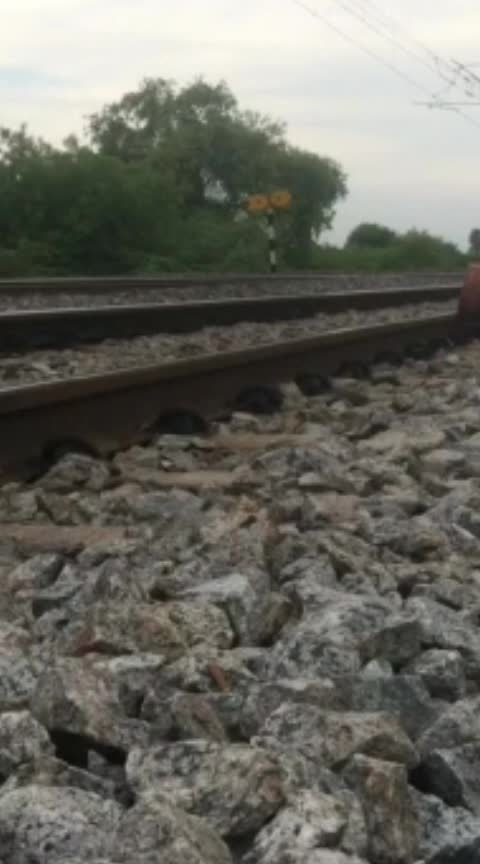Youth caught by police For Putting  Empty cylinders on Railway Track.