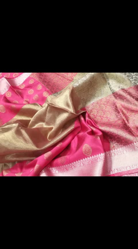 Tw 62.💦 tissue weaving sarees with all over jari and contrast brocade blouse💦.2100+&