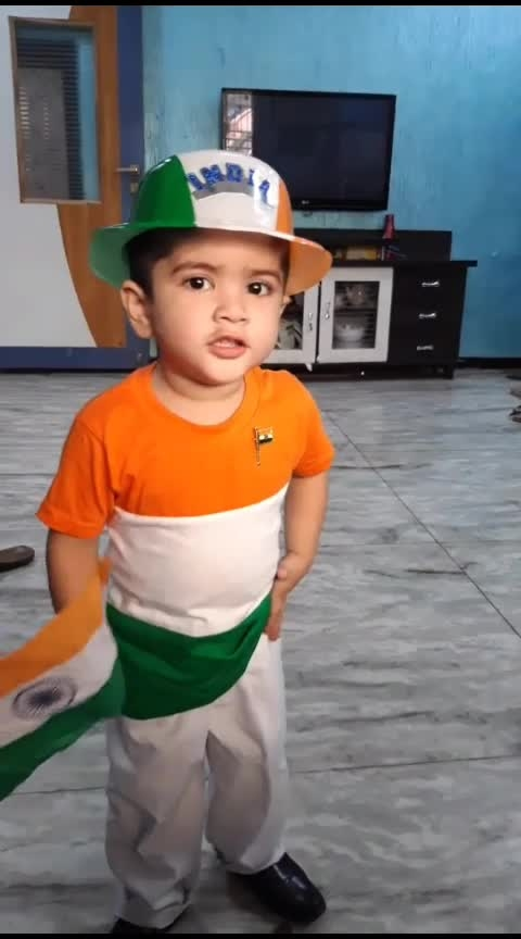 Happy Independence Day #august15 #patriotism #janaganamana #cutekid #nationalanthem #national_flag #cuteness-overloaded #kidslove