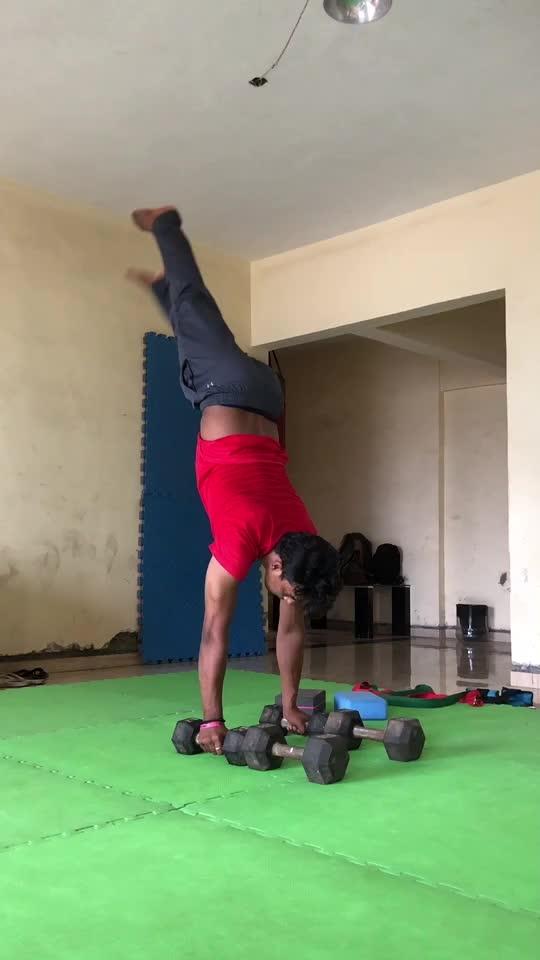 Handstand progression #handstand #progression #roposo #roposoness @roposocontests