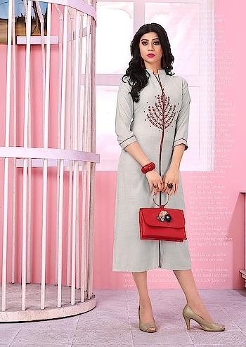 Simple And Elegant Looking Designer Readymade Kurtis ♥ Price:- 1200/- For similar visit 👉 https://bit.ly/2ISpwoR To Order Whats-app us (+91) 8097 909 000 😊 * * * * #kurtis #kurti #onlineshop #onlinekurtis #kurtisonline #dress #indowestern #ethnicwear #gowns #fashion #printed #printedtops #jacketkurtis #longkurtis #designerkurti