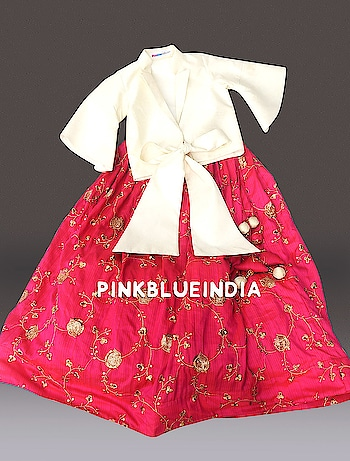 Silk Girls Skirts: Buy Girls Silk Skirt with Crop Top Online Contact :+918000011699 Shop Now : https://www.pinkblueindia.com/girls-silk-skirt-with-crop-top.html  #kidswear #festivewear #festiveoccasion #croptop #girlsskirt #customisedoutfit #babyclothing #indianweddings #kidsfashion #babymodel #designerdress #ethnicwear #traditionaloutfit #indianwear #partywear #pinkblueindia