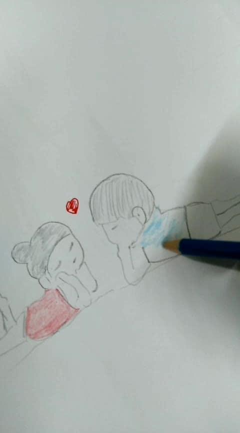 Lovely 💕pencil sketch #pencilsketch #diy #pencilsketch