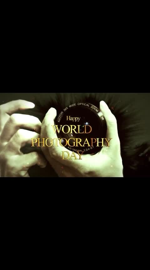 Happy World #photography Day To All #photographers