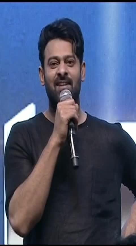 Prabhas Most Happiest Speech @ Saaho Pre Release Event    #shraddhakapoor #rebalstarprabhas #cinebazar
