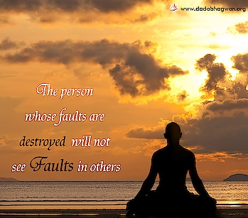 Do You Know that the person whose faults are destroyed will not see faults in others?   Read more on: https://www.dadabhagwan.org/path-to-happiness/spiritual-science/absolute-vision-of-the-enlightened-one/why-do-i-find-fault-in-others/  #fault #mistake #relationship #self help #spiritual #spirituality