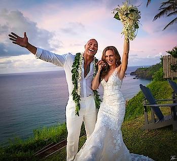 "Dwayne The Rock Johnson announced on Monday that he has married longtime love Lauren Hashian Official  ""We do. August 18th, 2019. Hawaii. Pōmaikaʻi (blessed),"" the caption read.  #therock #dwaynejhonson #wedding #trendingwedding #celebritywedding #weddinginspirations #weddingtrends"
