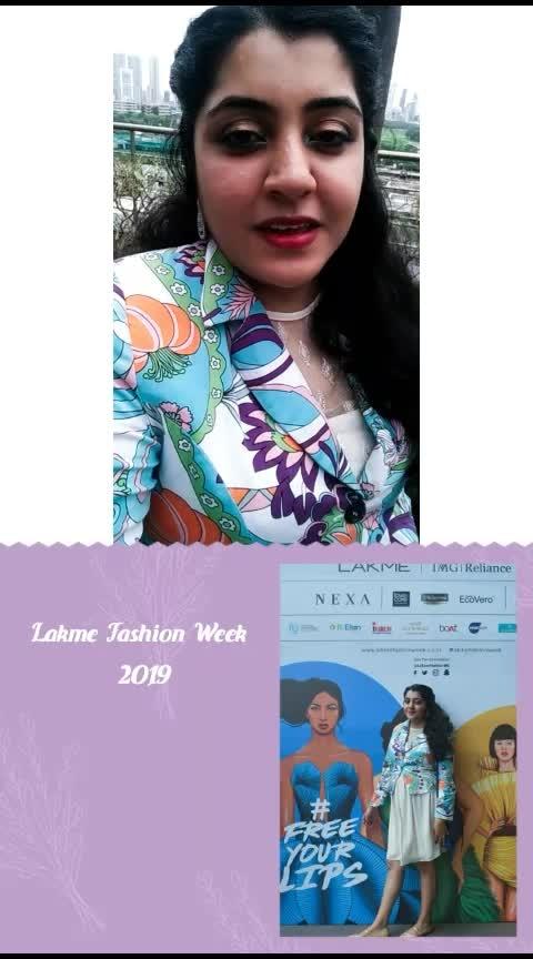 My experience as a #fashionblogger at the @lakmefashionweek @lakme @roposolove    #lakmefashionweek #lfwwf19 #makefashiongood #20yrsoflfw #fashionblogger