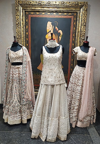 Pastels are always elegant!! Presenting Varun Nidhika's lovely Trousseau and Bridal collection with intricate embroidery for your special occasions!!!  #devalstore #ahmedabad #designerwear #designercollection #latestcollection #weddingwear #multidesignerstore #designerstore #womensclothing #designeroutfit