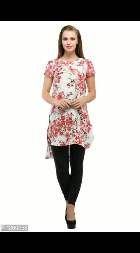 White Color Floral Printed Tunic  Size:  S M L XL  Within 6-8 business days  Free and Easy return-No question asked  Machine Wash Do not Bleach