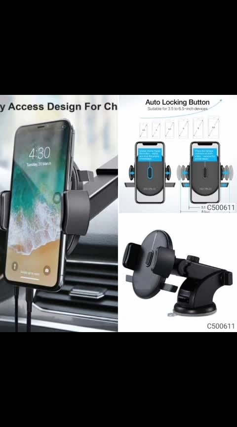 Product Name: Car Mount Mobile Holder  Details: Description: It has 1 Piece of  Car Mount Mobile Holder  Type :  Car Mount Mobile Holder  Material : Plastic  Size (L X W X D) mm : 105  x 105 x 295 Total No. of Pieces: 1 Dispatch: 4-5 Days 💥 FREE COD 💥 FREE Return & 100% Refund 🚚 Delivery: Within 7days  #android #androidonly #google #photography #instapic #googleandroid #droid #instandroid #instaandroid #instadroid #instagood #ics #samsung #samsunggalaxys7 #samsunggalaxyedge #samsunggalaxy #phone #smartphone #mobile #androidography #androidographer #androidinstagram #androidnesia #androidcommunity #teamdroid #teamandroid