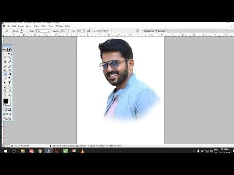 How to photo cutting in photoshop | Adobe photoshop 7.0 tutorial | Tamil