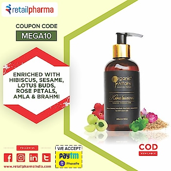 Organic Affaire Keraluscious Hair Oil (Hibiscus, Lotus Buds & Brahmi) 200 Ml  Shop Now-https://bit.ly/2Zsy1AI  A Premium handmade hair stimulation & nourishing formulation crafted with certified organic & natural ingredients.   Enriched with the goodness of Hibiscus, Sesame, Rose Petals, Lotus Buds, Brahmi and Amla; this hair oil is a blessing to your tresses.  #HairOil #KeralusciousHairOil #HerbalOil #OrganicOil #BenefitsofHerbalOil #OnlineHerbalOil