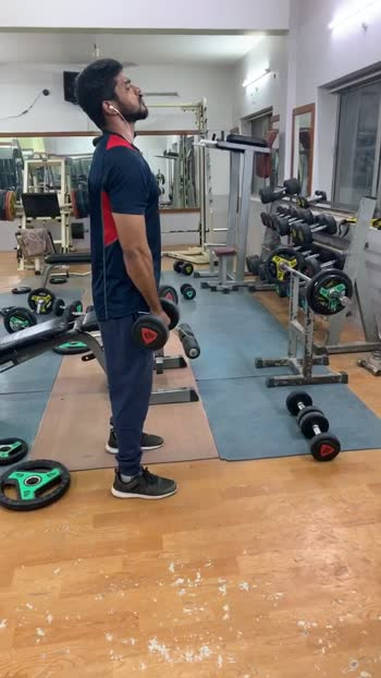 Dumbbells front raises #shoulders #shouldersworkout #workout #workoutmotivation #roposo