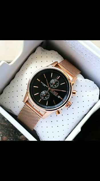 *Experience sophisticated designs & classic cuts in Mesh Belt by Renowned brand Hugoboss.*         *✅CASH ON DELIVERY ✅*  HugoBoss, A Boys brand new Model Now Available & Ready to ship today   # HugoBoss # For Men # 7AA Premium Collection # Model- Classic Mesh # Dial Size - 45mm # Feature Follows -  -Working Chronograph -3 Hand Dial -Rose Gold Stainless Steel -Adjustable Belt -Logo Engraved Buckle -Modern & Classic Style - Heavy Original Chronograph Machinery - 100% Satisfaction 💯   New model with price updated & Free Hugoboss Brand Box         *¦¦ @PRICE - 2350/- FREE SHIP ¦¦* Lo