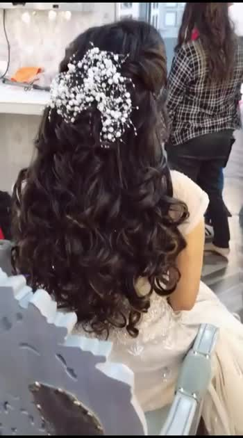 Engagement hairstyling by me🥰- hairstyles - makeupartist - engagement - openhair - western
