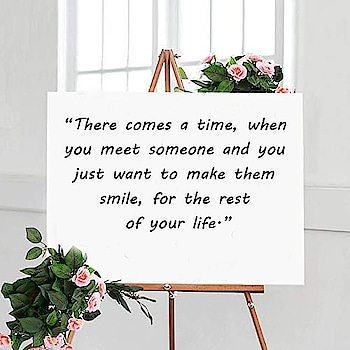 """""""There comes a time when you meet someone and you just want to make them smile for the rest of your life.""""  #weddingtips #weddingplanning #lovecouple #weddingquotes #weddingcouple #lovetips #lovelife #123WeddingCards"""