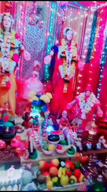 गौरी पूजन...🙏 #marathi #tradition #lakshmi #ropsomarathi #decorations #decorativeartsofindia #creativespace #artboy #abhiraje #roposostar